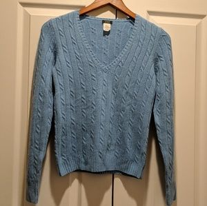 J. Crew V-neck Sweater Wool Cashmere light blue